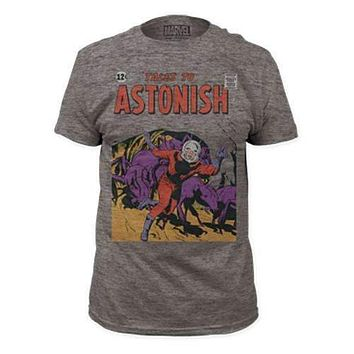 Mens Ant-Man Tales to Astonish Gray Tri Blend Tee Shirt