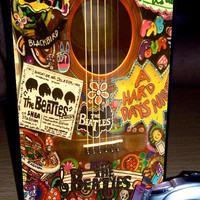 The Beatles Hippie Guitar - iphone case,samsung case,ipod case,samsung mini,HTC one,HTC one X,nokia lumia 920,sony experia,samsung note.