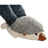 Hedgehog Baby USB Heating Shoes Warmer -- Beige