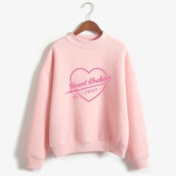 Fashion Harajuku Kawaii Tops Hip Hop Twice Oversize Turtlenecks Hoodies Sweatshirts Women/Men Hoodies Loose Casual Sweatshirts