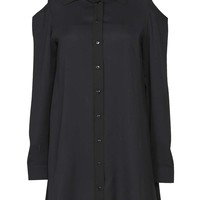 Tegan Open Shoulder Shirt Dress