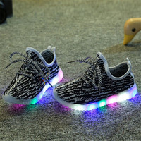 Choice of Boys or Girls Stylish Light Up Glowing Shoes