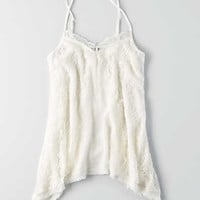 AEO Lace Panel Cami , Chalk