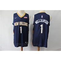Men's New Orleans Pelicans Zion Williamson Nike Navy Swingman Jersey - Association Edition - Best Deal Online
