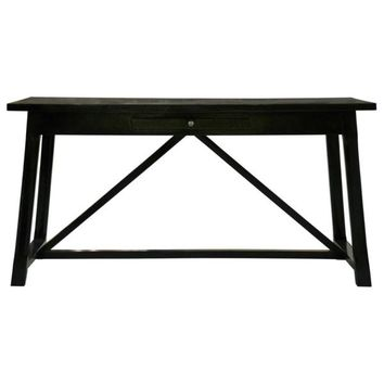Montgomery  Desk, Distressed Black