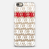 xoxo red accent (transparent) iPhone 6 case by Noonday Design | Casetify