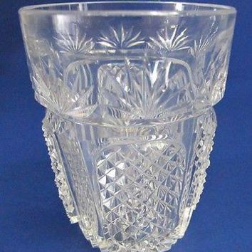 OLD IRISH tumblers American Brilliant Period hand Cut Glass blown whiskey