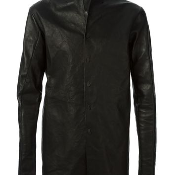 A Diciannoveventitre leather high neck jacket