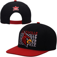 Louisville Cardinals adidas Apparel Hook Snapback Adjustable Hat - Black