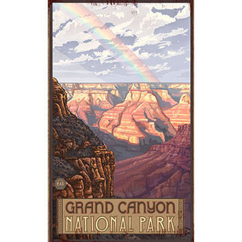 Personalized Grand Canyon National Park Wood Sign