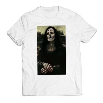 Zombie Monalisa Unique Clothing T shirt Men