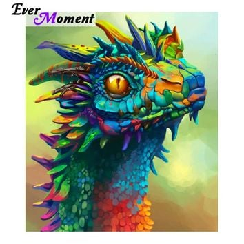 5D Diamond Painting Rainbow Dragon Kit