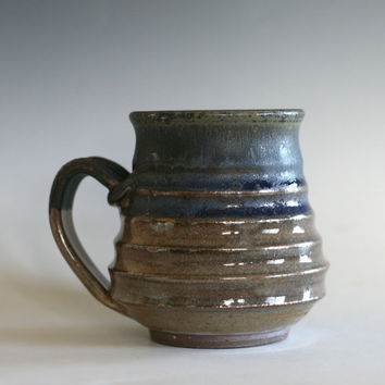 Pottery Coffee Mug, unique coffee mug, handmade ceramic cup, handthrown mug, stoneware mug, wheel thrown mug, ceramics and pottery