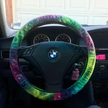 LTD Tie Dye Rasta Steering Wheel Cover