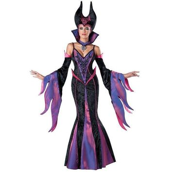 Cool Hot Sale In Character Maleficent Costume Adult Dark Sorceress Womens Halloween Evil Queen Fancy Dress Costume Disfraces W159341AT_93_12
