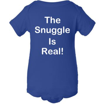 """Snuggle Is Real"" Creeper Baby Onesuit"
