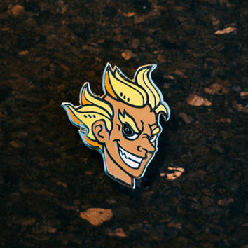 Overwatch Junkrat Fan Art Gold Plated Hard Enamel Pin