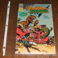 Cadillacs And Dinosaurs By Mark Schultz Comic Book Tyco Toys Topps Edition 1993 Promotional Issue Number 1 Kitchen Sink Comix