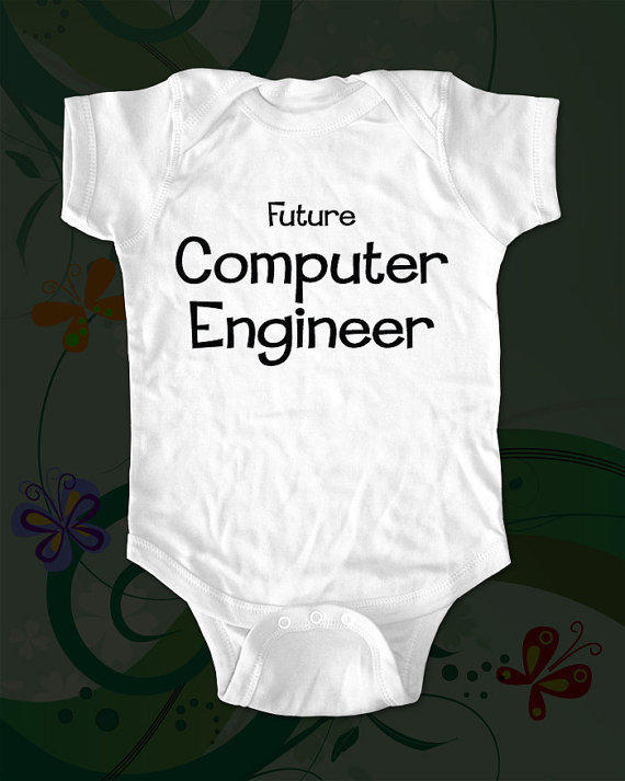 Future Computer Engineer Shirt saying printed on by cuteandfunny
