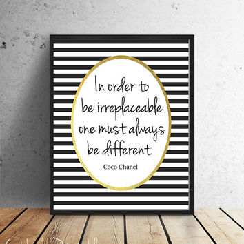 Coco Chanel quote INSTANT DOWNLOAD printable typography poster