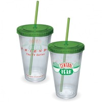 FRIENDS CENTRAL PERK 16 OZ. CUP WITH STRAW