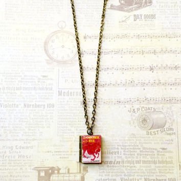 The Catcher in the Rye by J.D. Salinger Book Necklace/Literary Necklace/Book Locket Necklace/Bookmark/Keychain/Bag Charm/Bracelet