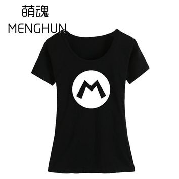 Super Mario party nes switch High quality girl's t shirt retro game fans tee shirts  bros t shirts ac388 AT_80_8