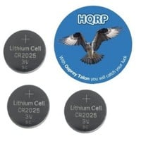 HQRP 3 Pack Lithium Coin Battery compatible with Canon Remote Control RC-5 fits Z180u Z155 129 370Z plus Coaster
