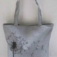 Amazon.com: Dandelion Gray Fashion Canvas Shopping Tote/grocery Bag: Everything Else