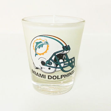 Miami Dolphins Candle - Soy Shot Glass Candle - CHOICE OF SCENT