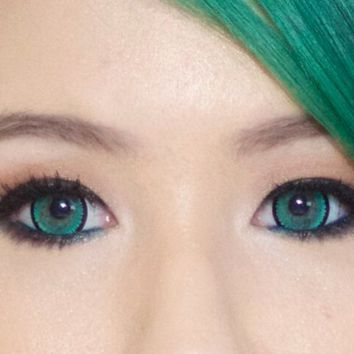 geo nova green Circle Lenses Colored Contacts Cosmetic Color Circle Lens | EyeCandy's