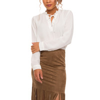 Perfect Match Fringe Skirt - Tan