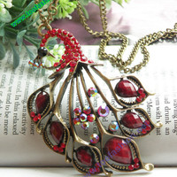 Pretty retro copper red crystals expanding by toofashion2010