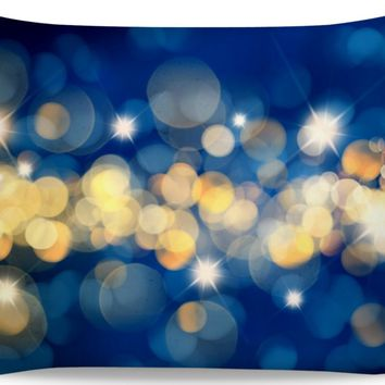 ROB Blue And Gold Pillowcase