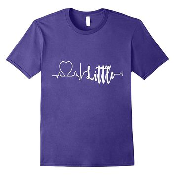 Little T-Shirts For Sorority Families Heartbeat Matching Tee