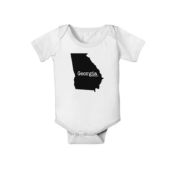 Georgia - United States Shape Baby Romper Bodysuit by TooLoud