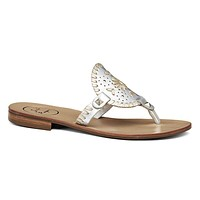 Georgica Sandal in Silver and Platinum by Jack Rogers - FINAL SALE