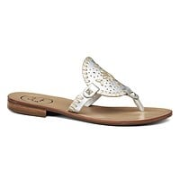 Georgica Sandal in Silver and Platinum by Jack Rogers