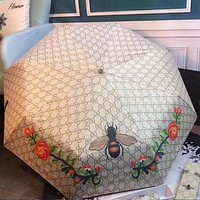 GUCCI Trending Stylish Bee Flower G Letter Pattern Classic Umbrella Sunshade Folding Sunshade Automatically I12434-1