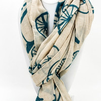 Woven Bicycle Scarf- Ivory