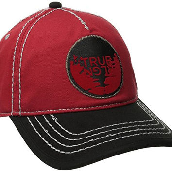 True Religion Men's Full Moon Patch Baseball Cap, True Red, One Size