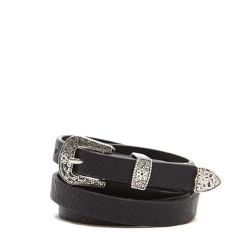 Skinny Faux Leather Belt   Forever 21 - 2000177377