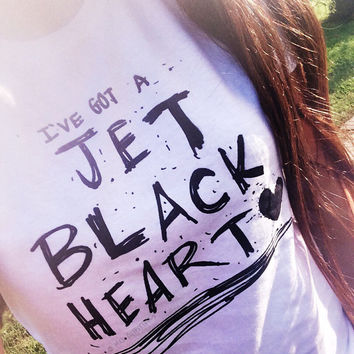 Jet Black Heart T-shirt © Design by Maggie Liu