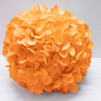 Yellow flower pillow round pouf circular pillow fibre pillow nursery decor baby pillow sofa pillow bedroom decor wedding home decor gift