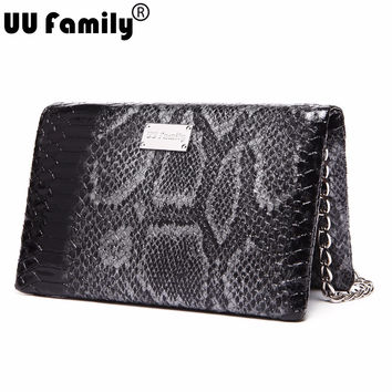 UU Family Autumn Bag 2016 Serpentine Clutch Bags Evening Purse Women Cross Bags Minaudiere Shoulder Strap Chain Bags Sac a Main