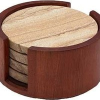 Cherry Circular Coaster Holder for Thirstystone Sandstone