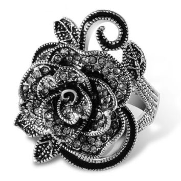 Black Rose Vintage Fadhion Ring