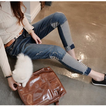 Fashion 2016 Boyfriend Jeans Womens Loose Denim Jeans For Women Plus Casual Street Jeans Woman Hot Sale Big Vintage Jeans