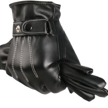 Men's Winter Leather Gloves