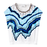3.1 Phillip Lim Rock & Wood Print Tee - Sleeveless T-Shirt - ShopBAZAAR